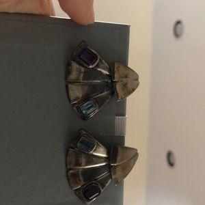 Art Deco earrings 14k